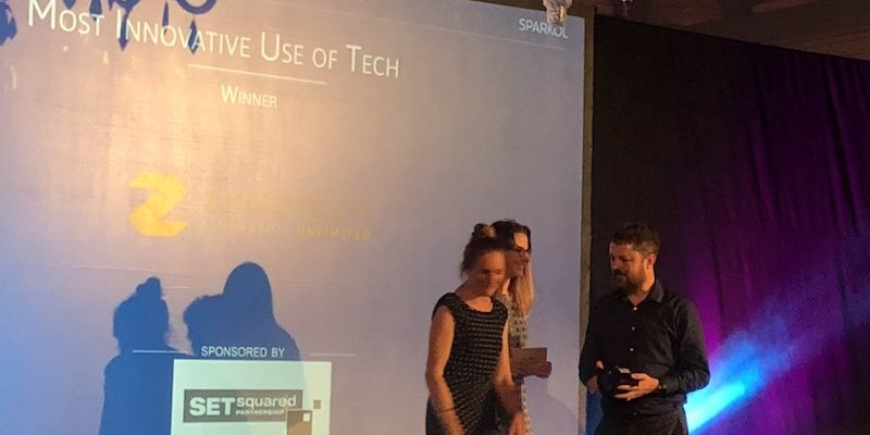 Zenotech wins the Most Innovative Use of Tech Award at The SPARKies 2019