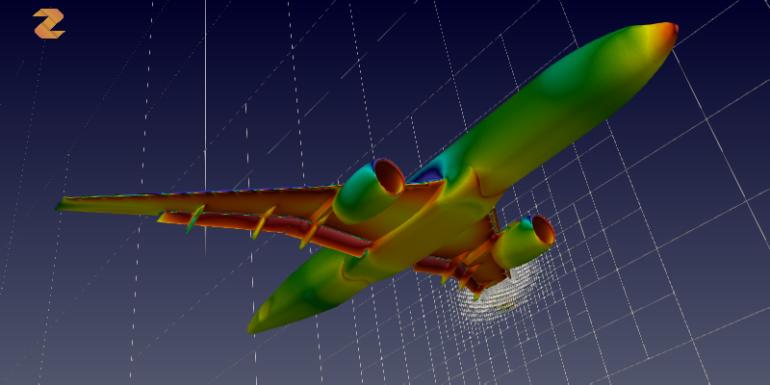 CFD model of an aeroplane.