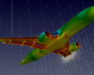 CFD model of an aeroplane.