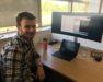 In Zenotech office, Tom Wainwright, University of Bristol.